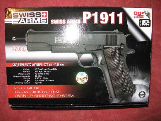 Swiss Arms 1911 Witness Co2 Blowback Full Metal Air Pistol  (PERSONAL FACE  TO FACE DELIVERY @ £14 99 ONLY)
